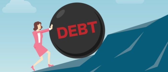 struggling with debt manage stress